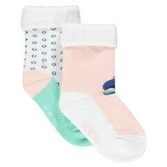 Σετ με 2 ζευγάρια κάλτσες πετσετέ