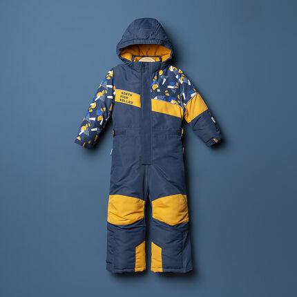 Ολόσωμη φόρμα του σκι με μοτίβο και τσέπες με φερμουάρ