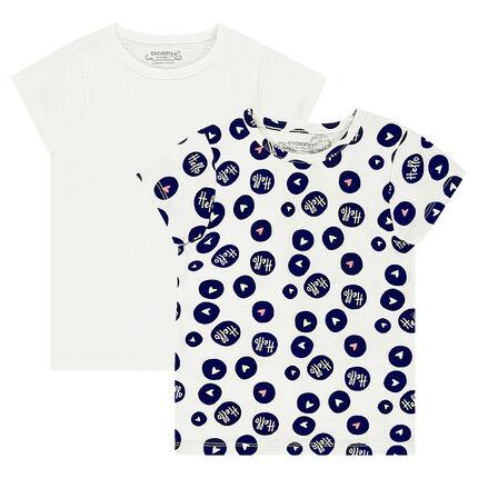 db2e7c3fdf6d Παιδικά - Σετ με 2 κοντομάνικες μπλούζες ζέρσεϊ ...