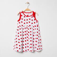 Αμάνικο φόρεμα με φράουλες σε όλη την επιφάνεια