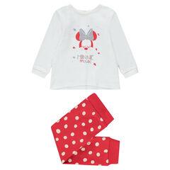 Πιτζάμα ζέρσεϊ με στάμπα Minnie της ©Disney και πουά κάτω μέρος