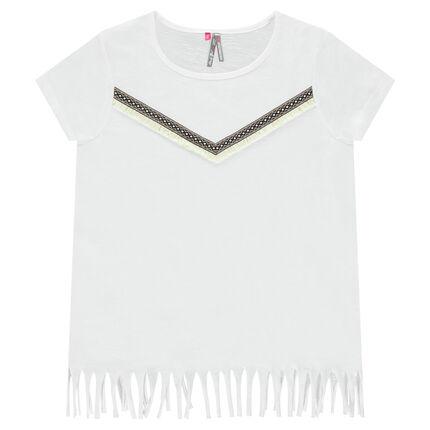 Παιδικά - Κοντομάνικη μπλούζα με κρόσσια
