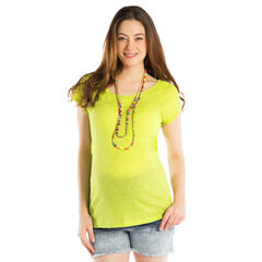 Μονόχρωμη κοντομάνικη μπλούζα εγκυμοσύνης