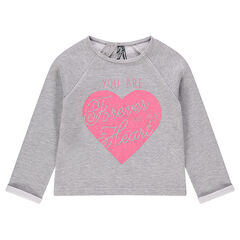 Sweat en molleton print fantaisie