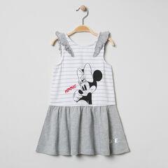 Φόρεμα με βολάν στα μανίκια και στάμπα τη Minnie της Disney