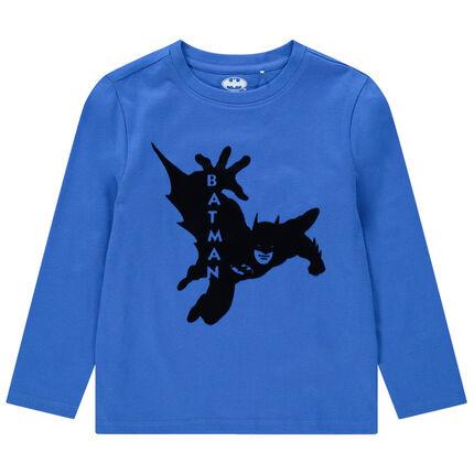 Μακρυμάνικη μπλούζα από βιολογικό βαμβάκι με στάμπα Batman