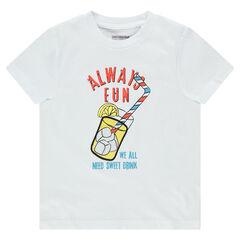 Κοντομάνικη μπλούζα από ζέρσεϊ με στάμπα