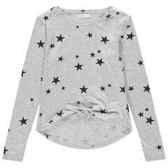 Παιδικά - Μακρυμάνικη μπλούζα ζέρσεϊ με τυπωμένα αστεράκια
