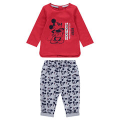 Enemble avec tee-shirt print Mickey vintage ©Disney et pantalon all-over