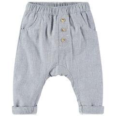 Φαντεζί βαμβακερό παντελόνι σε στυλ σαλβάρι
