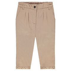 Μονόχρωμο βαμβακερό παντελόνι