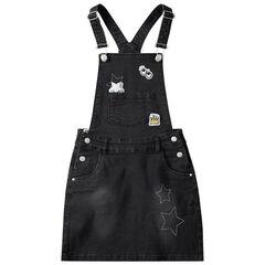 Παιδικά - Φόρεμα σαλοπέτα με σήματα και τυπωμένα αστέρια