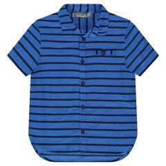 Βαμβακερό πουκάμισο με ρίγες ανάγλυφες σε όλη την επιφάνεια