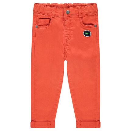 Παντελόνι από τουίλ με σήμα και τσέπη σε σχήμα αρκουδιού