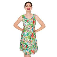 Φόρεμα εγκυμοσύνης με βολάν και εξωτικό μοτίβο