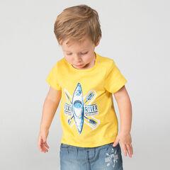 Κοντομάνικη μπλούζα από ζέρσεϊ slub ύφασμα με στάμπα καγιάκ