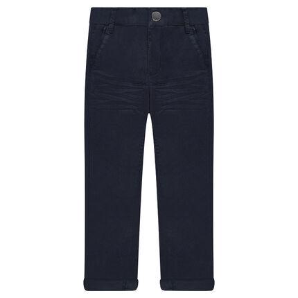 Μονόχρωμο παντελόνι τουίλ με τσαλακωμένη όψη