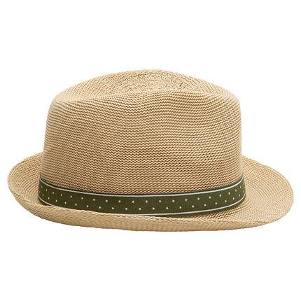 Καπέλο ψάθινο με πράσινη κορδέλα