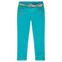 Παιδικά - Παντελόνι τουίλ με με μήκος μέχρι τον αστράγαλο και τσέπες με φερμουάρ