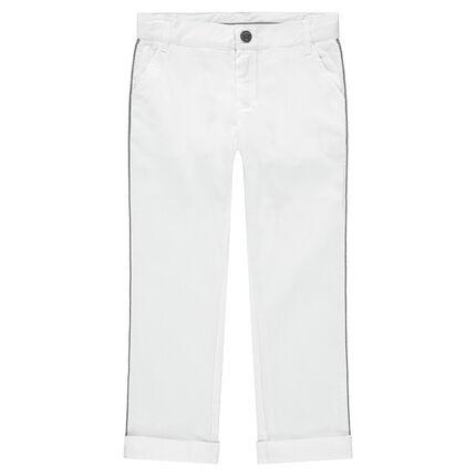 Λευκό βαμβακερό παντελόνι για επίσημες περιστάσεις