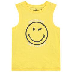 Μπλουζάκι αμάνικο με τύπωμα Smiley