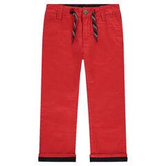Μονόχρωμο παντελόνι chino σε κόκκινο χρώμα