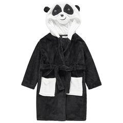 Robe de chambre en sherpan avec tête de panda