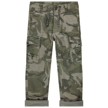 Μιλιτέρ παντελόνι με φλις επένδυση και τσέπες