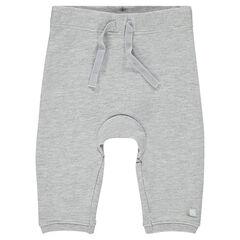Μονόχρωμο φανελένιο παντελόνι
