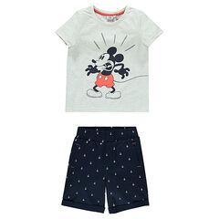 Σύνολο Disney με μπλούζα με τον Μίκυ και βερμούδα