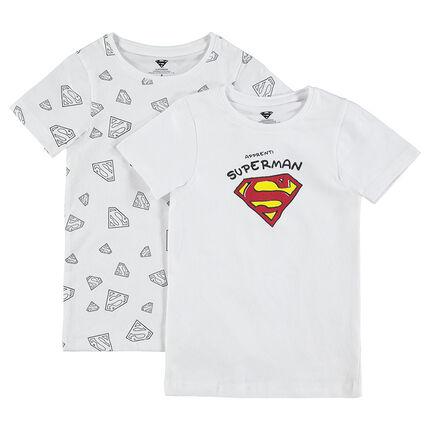 Σετ 2 κοντομάνικα φανελάκια με λογότυπο Superman της ©Warner