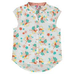 Αμάνικο πουκάμισο με φλοράλ μοτίβο