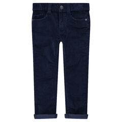 Μονόχρωμο παντελόνι από βελούδο κοτλέ