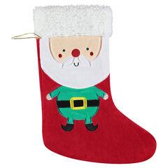Κάλτσα χριστουγεννιάτικη για τον τοίχο από βελούδο και sherpa , Prémaman