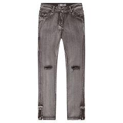 Παιδικά - Τζιν παντελόνι μέχρι τον αστράγαλο με σκισίματα στα γόνατα