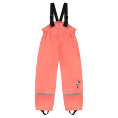 Αδιάβροχο παντελόνι με τιράντες και φλις επένδυση Disney Minnie
