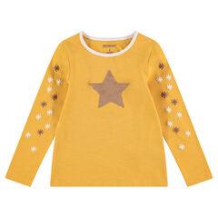 Μακρυμάνικη μπλούζα ζέρσεϊ με αστεράκι από «μαγικές» πούλιες