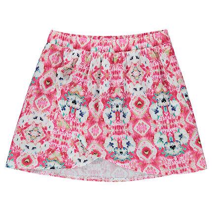 Παιδικά - Φούστα φάκελος με φλοράλ μοτίβο