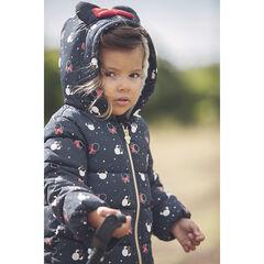 Μπουφάν με κουκούλα με σχέδιο Minnie Disney για bebe κορίτσι , Orchestra