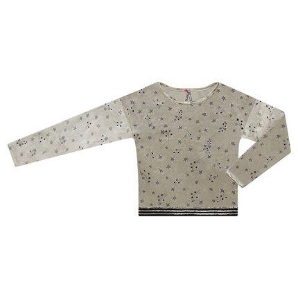 Μπλούζα βελουτέ με αστεράκια