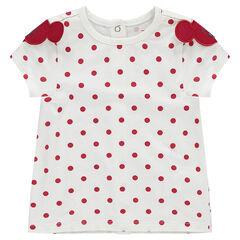 Κοντομάνικη μπλούζα με πουά και μοτίβα με τη Μίνι της Disney
