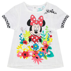 Κοντομάνικη μπλούζα Disney με στάμπα Μίνι και λουλούδια