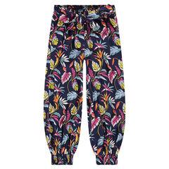 Χυτό παντελόνι σε στυλ σαλβάρι με εμπριμέ μοτίβο