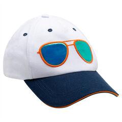 Δίχρωμο τουίλ καπέλο με γυαλιά με εφέ καθρέπτη