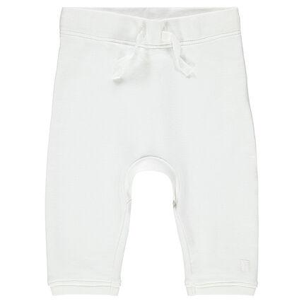 Βρεφικό φανελένιο παντελόνι μονόχρωμο