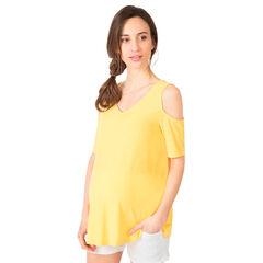 Κοντομάνικη έξωμη μπλούζα εγκυμοσύνης