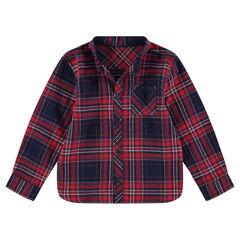 Μακρυμάνικο πουκάμισο από φανέλα με μεγάλα καρό
