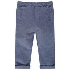 Πλεκτό παντελόνι με διακοσμητικό σχέδιο και τσέπες