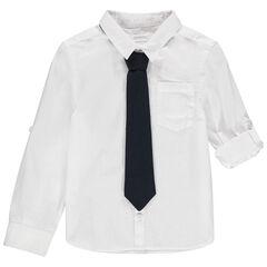 Μακρυμάνικο πουκάμισο για ειδικές περιστάσεις με αφαιρούμενη γραβάτα