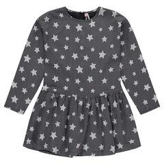 Παιδικά - Μακρυμάνικο φόρεμα με αστεράκια σε όλη την επιφάνεια